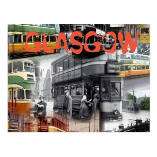Glasgow Trams Postcard
