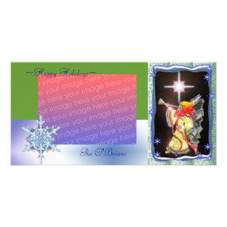 glass angel photo greeting card