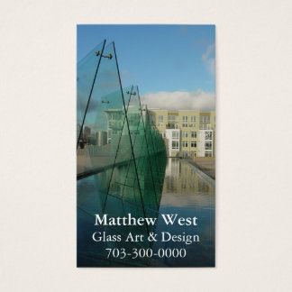 Glass Architecture Fountain Business Cards