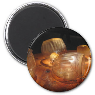 Glass Art 6 Cm Round Magnet