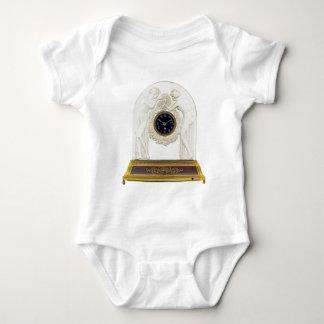 Glass Art Deco clock. Baby Bodysuit
