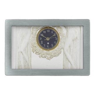 Glass Art Deco clock. Belt Buckle