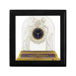 Glass Art Deco clock. Gift Box