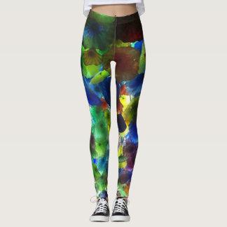 glass art-style leggings