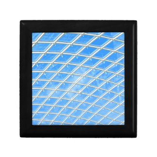 Glass background small square gift box