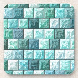 Glass blocks texture coaster