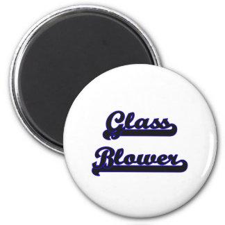Glass Blower Classic Job Design 2 Inch Round Magnet