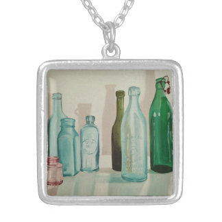 Glass Bottles Painting Necklace