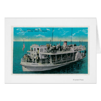 Glass Bottom Boat in Avalon, Catalina Island Card