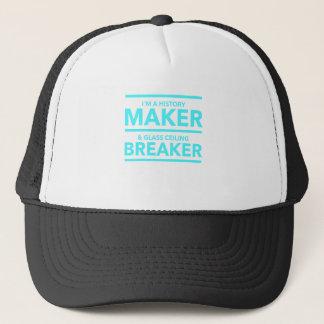 GLASS CEILING BREAKER HISTORY MAKER  T-SHIRT TRUCKER HAT