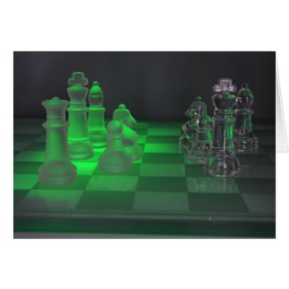 Glass Chess Pieces Greeting Card