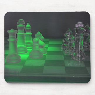 Glass Chess Pieces Mouse Pad