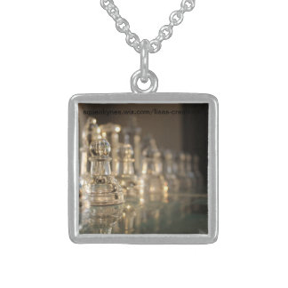 Glass Chess Set Sterling Silver Sterling Silver Necklace