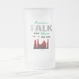 glass - city frosted glass mug