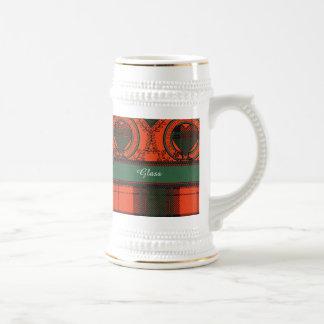 Glass clan Plaid Scottish kilt tartan Beer Steins