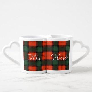 Glass clan Plaid Scottish kilt tartan Lovers Mug Sets