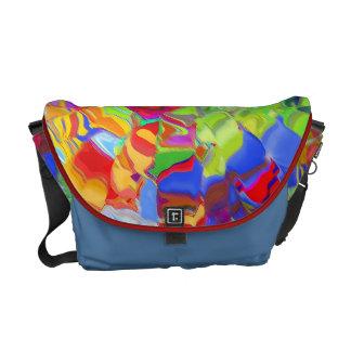 Glass Colored Speckled Rickshaw Messenger Bag