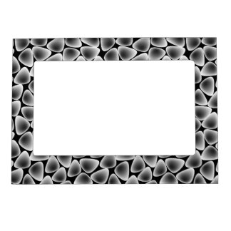 Glass crystals magnetic picture frame