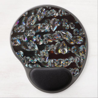 Glass Crystals Reflections Gel Mouse Pad