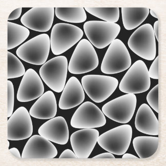 Glass crystals square paper coaster