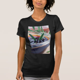 Glass cup with soy sauce and rosemary T-Shirt