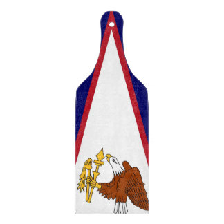 Glass cutting board paddle flag of American Samoa