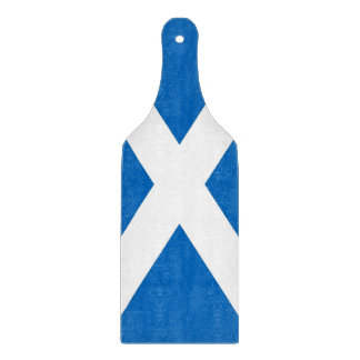 Glass cutting board paddle - Scotland flag