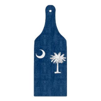 Glass cutting board paddle South Carolina flag