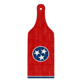 Glass cutting board paddle Tennessee flag