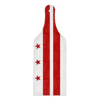Glass cutting board paddle Washington DC flag
