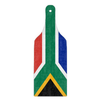 Glass cutting board paddle with South Africa flag