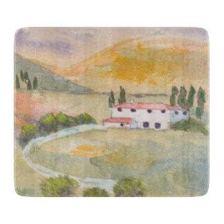 Glass cutting board - Tuscany, Italy