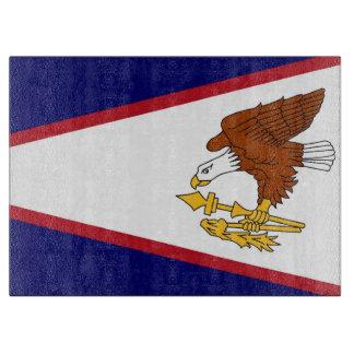 Glass cutting board with Flag of American Samoa