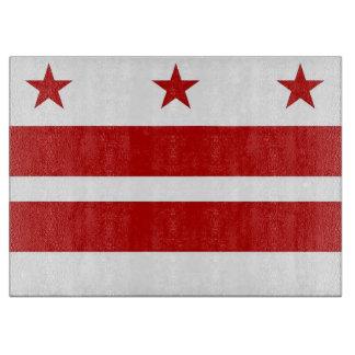 Glass cutting board with Washington DC, USA