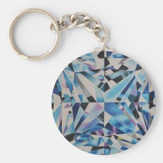 "Glass Diamond 2.25"" Basic Button Keychain"