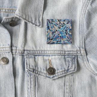 Glass Diamond 2 Inch Square Button