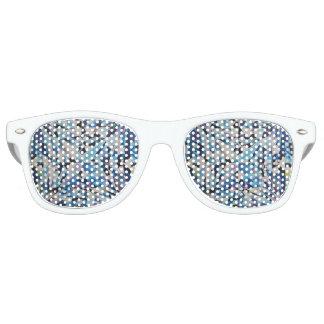 Glass Diamond Adult Retro Party Shades, White Retro Sunglasses