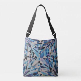 Glass Diamond All-Over-Print Cross Body Bag