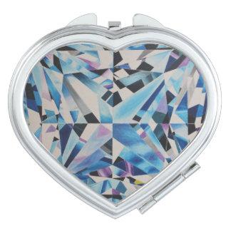 Glass Diamond Compact Mirror