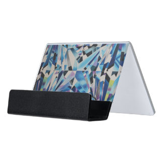 Glass Diamond Desk Business Card Holder