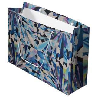 Glass Diamond Gift Bag - Large, Glossy