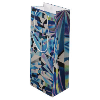 Glass Diamond Gift Bag - Wine, Glossy
