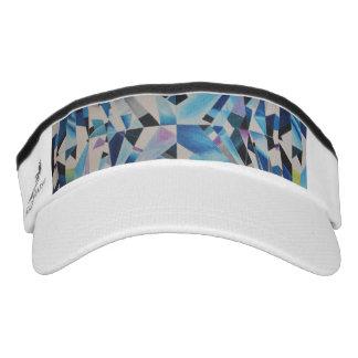 Glass Diamond Knit Visor, White Visor