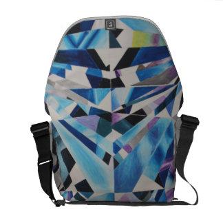 Glass Diamond Medium Messenger Bag Outside Print