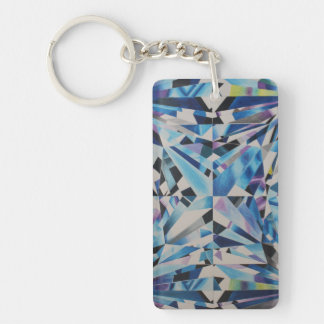 Glass Diamond Rectangle (single-sided) Keychain