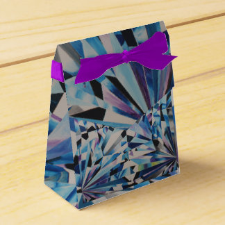 Glass Diamond Tent Favor Box
