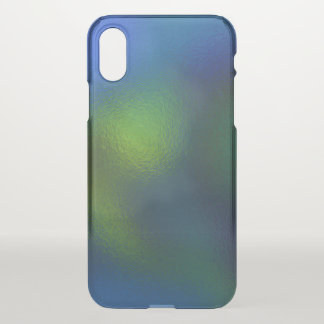 Glass Distort (11 of 12) (Green) iPhone X Case