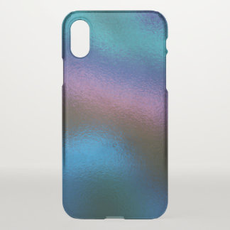 Glass Distort (2 of 12) (Blue) iPhone X Case