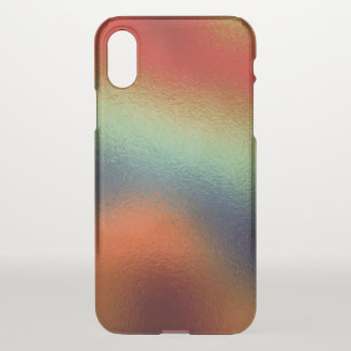 Glass Distort (2 of 12) (Red) iPhone X Case
