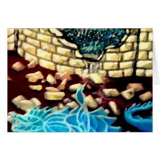 """""""Glass Dragon Hole in the Wall  CricketDiane Art Card"""